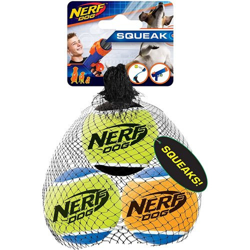 Nerf Paq. Pelota Tennis Con Sonido (3 Pzas) M