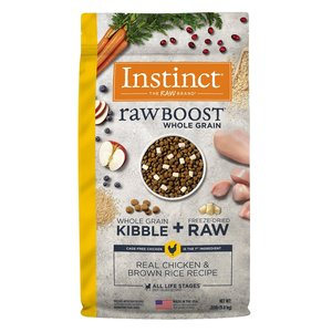 Instinct Canine Raw Boost Pollo y Granos de Arroz Integral 9.8 kg (20 lb)