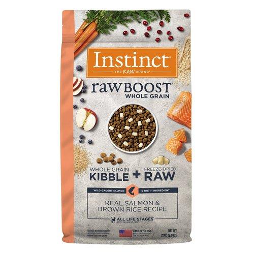 Instinct Canine Raw Boost Salmon con Granos de Arroz Integral 9.8 kg (20 lb)