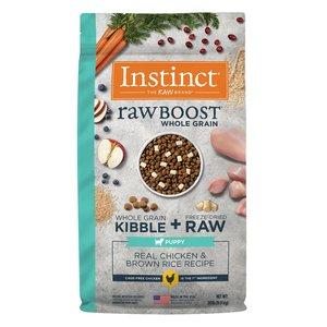 Instinct Canine Cachorro Raw Boost Pollo con Granos y Arroz Integral 9.8 kg (20 lb)