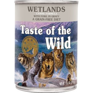 Diamond Taste Of The Wild Canine Lata Adulto Wetlands Pato Asado 374 g (13.2 oz)