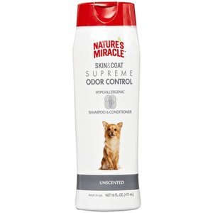 Natures Miracle Shampoo y Acondicionador Hipoalergénico Pieles Sensibles Beneficio 4 en 1 - 473 ml