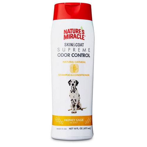 Natures Miracle Shampoo y Acondicionador de Avena Beneficio 4 en 1 - 473 ml
