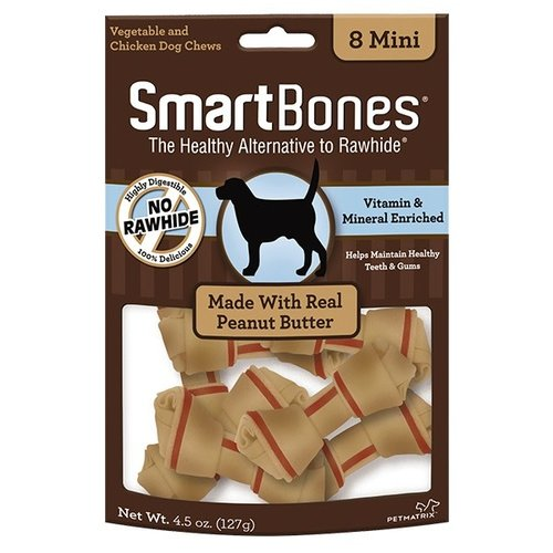 Smart Bones Canine Huesos Con Cacahuate Mini 8 Pza.
