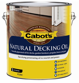 Cabot's Natural Decking Oil