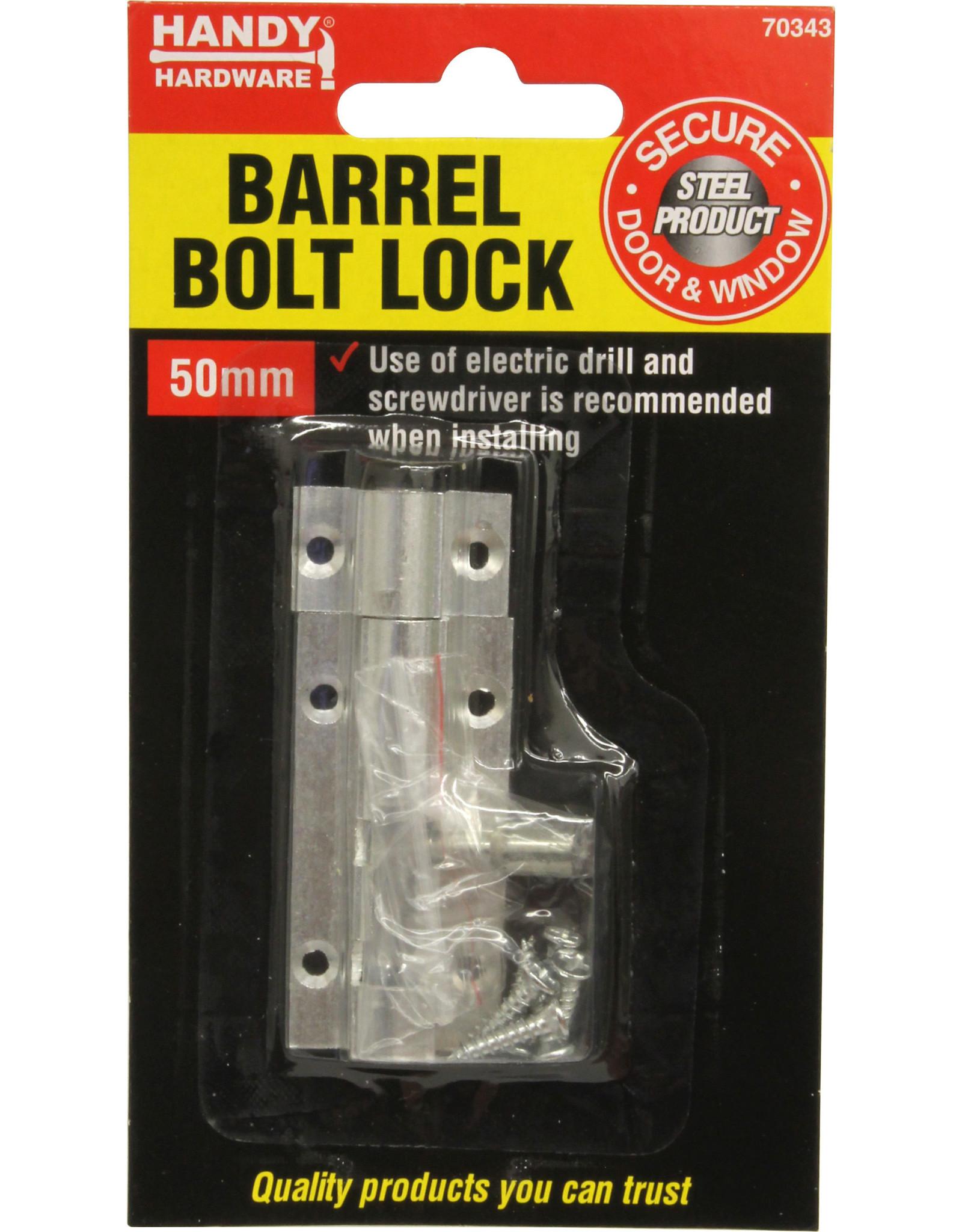 Lock Barrel Bolt 50mm