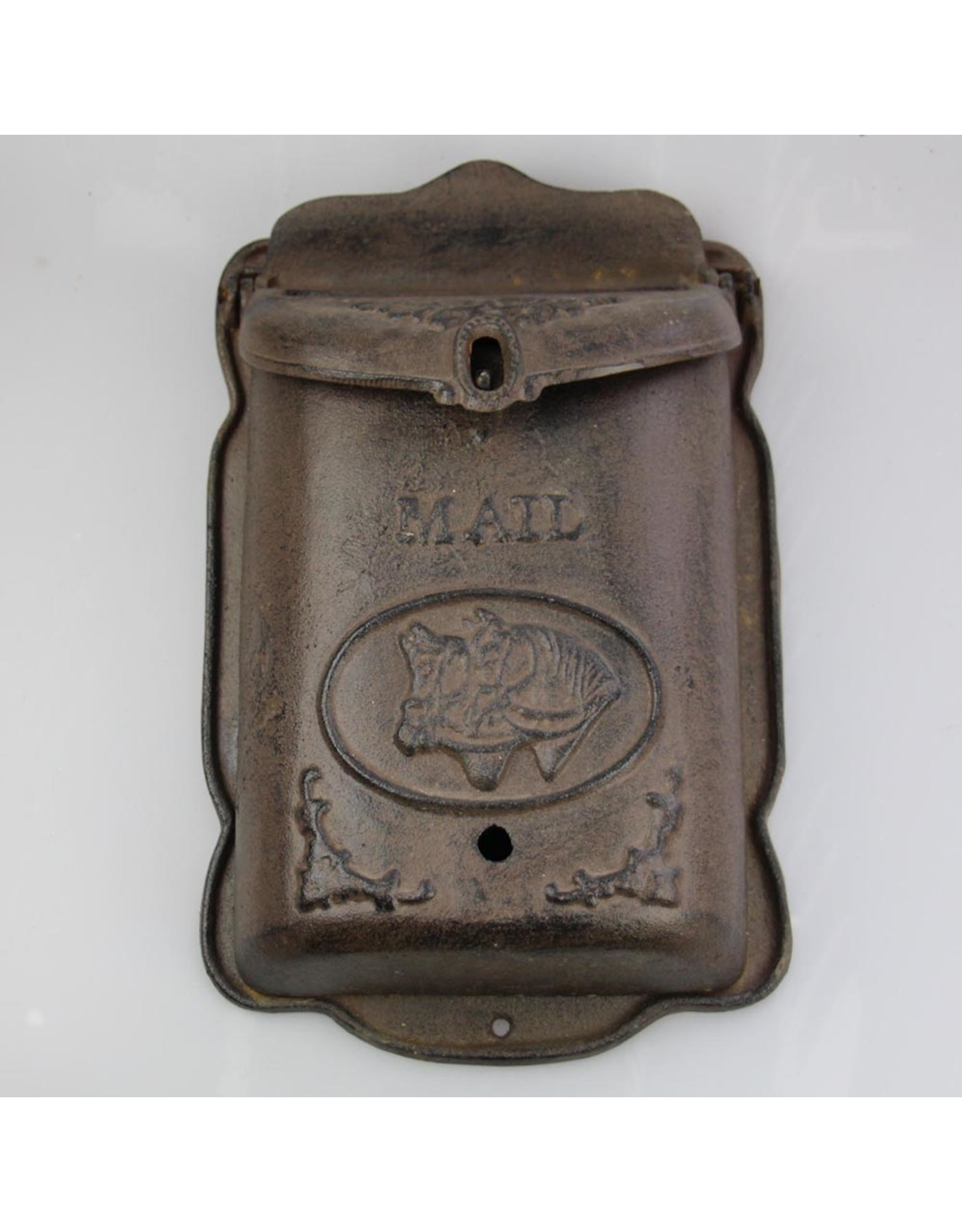Mailbox Antique Brown w Horses