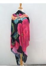 Anna Chandler Design Wrap Big Peony  Black