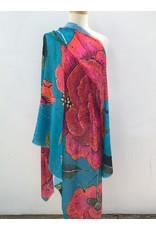 Anna Chandler Design Wrap Big Peony Turquoise