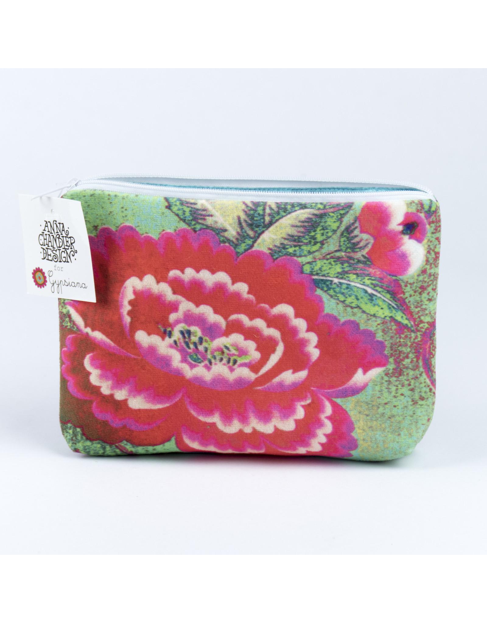 Anna Chandler Design Velvet Purse Chinese Peony