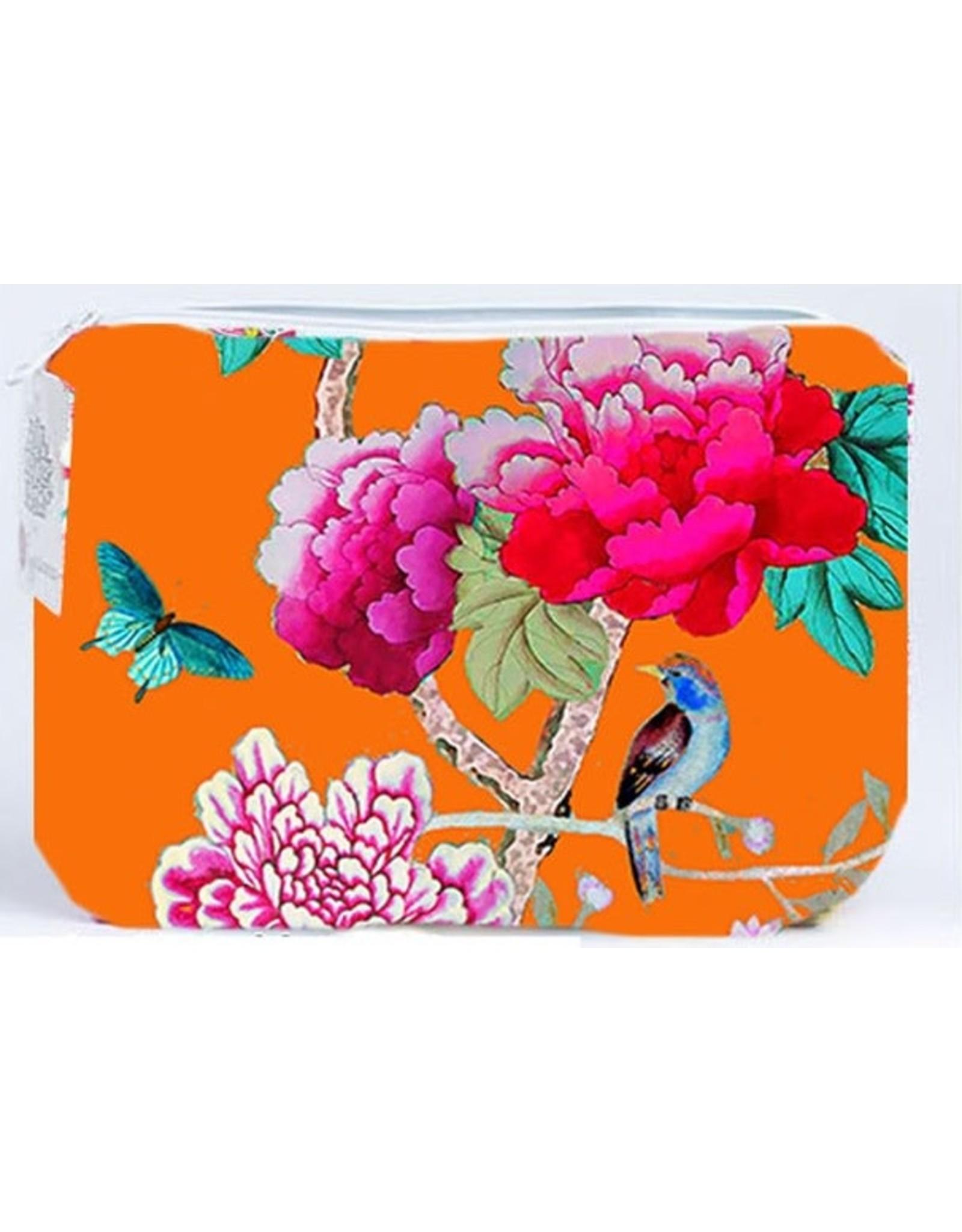 Anna Chandler Design Velvet Purse Orange Bird