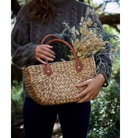 Suede Handle Harvest Basket