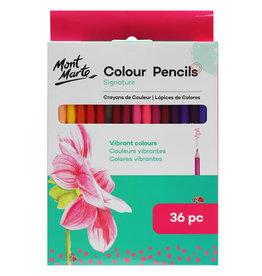 Mont Marte Mont Marte Colour Pencils 36pc - Essential Colours