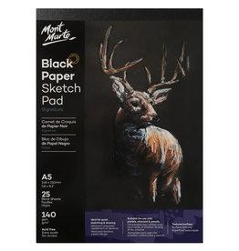 Mont Marte Mont Marte Black Paper Sketch Pad 25 sheet 140gsm A5