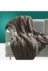 Throw Rug Sherpa Fleece Grey