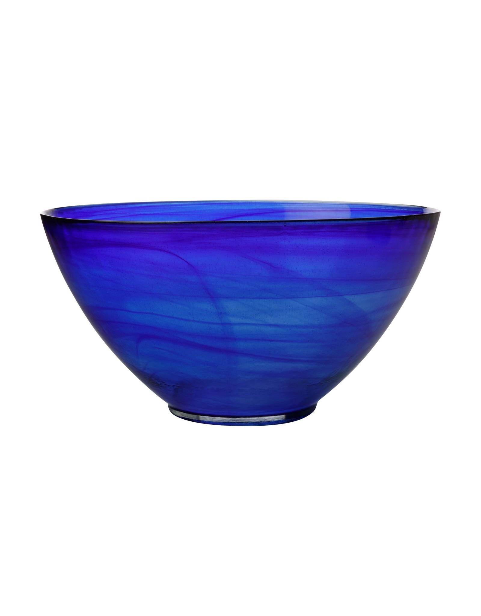 Casa Domani Cirrus Twilight Blue Glass Serving Ware