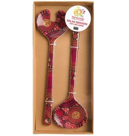 Warlukurlangu Artists Melamine Salad Servers