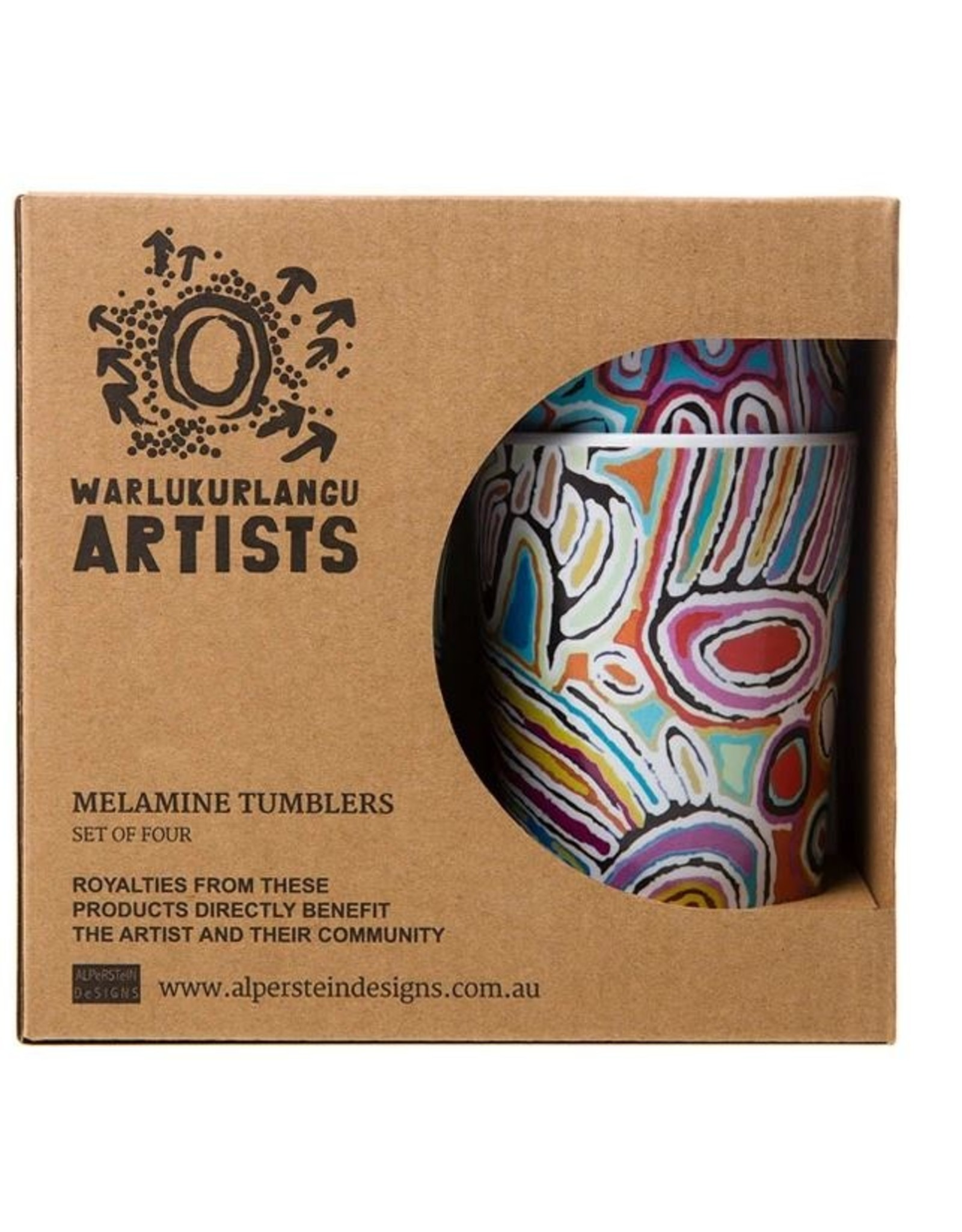 Warlukurlangu Artists Melamine Tumbler Set