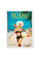 Bicheno Tea Towel The Beaches are Calling