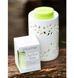 Elume Cylinder Essential Oil Candle Diffuser White