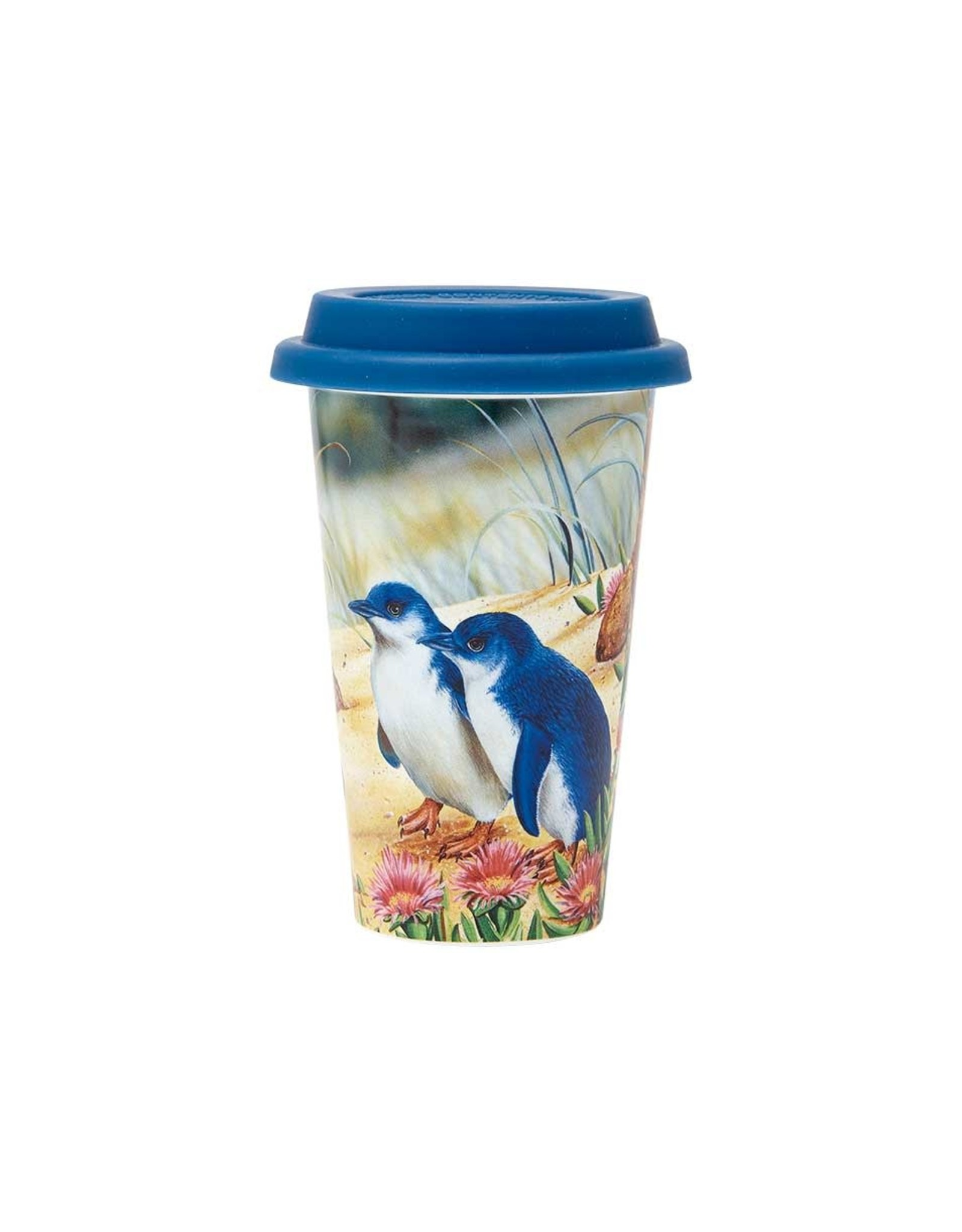 Aus Bird & Flora Penguin & Ice Plant Travel Mug