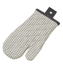 Academy Woolf Grid Print Linen & Cotton Oven Glove