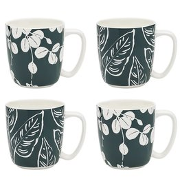 Ecology House Plants Set 4 Mugs 300ml