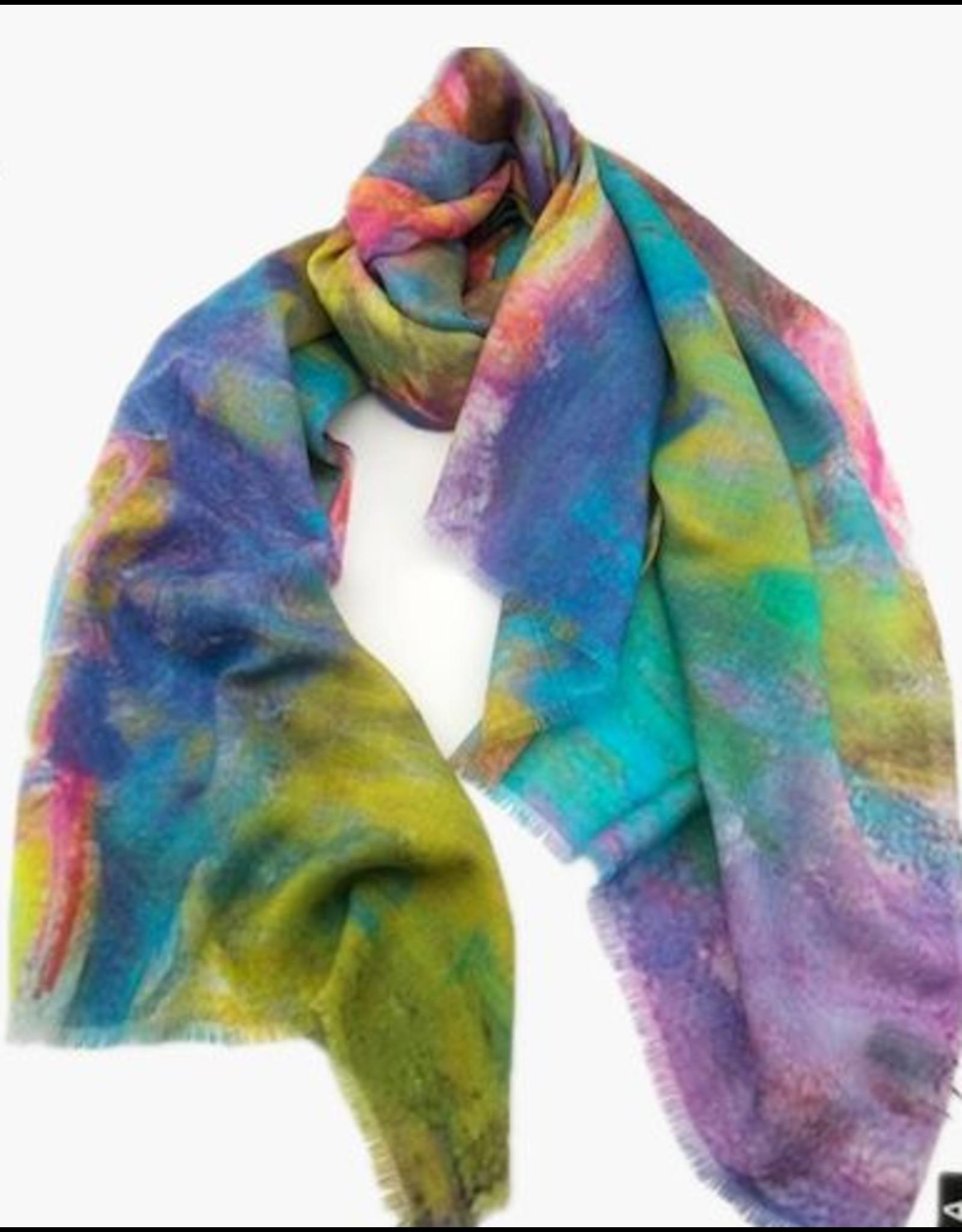 100% Australian Merino Colourful Wool Scarf
