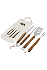 Ecology Ecology Provisions Stainless Steel & Acacia Wood 3pc BBQ Tool Set
