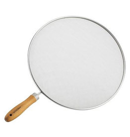 Ecology Ecology Provisions Stainless Steel & Acacia Wood Frypan Splatter Screen
