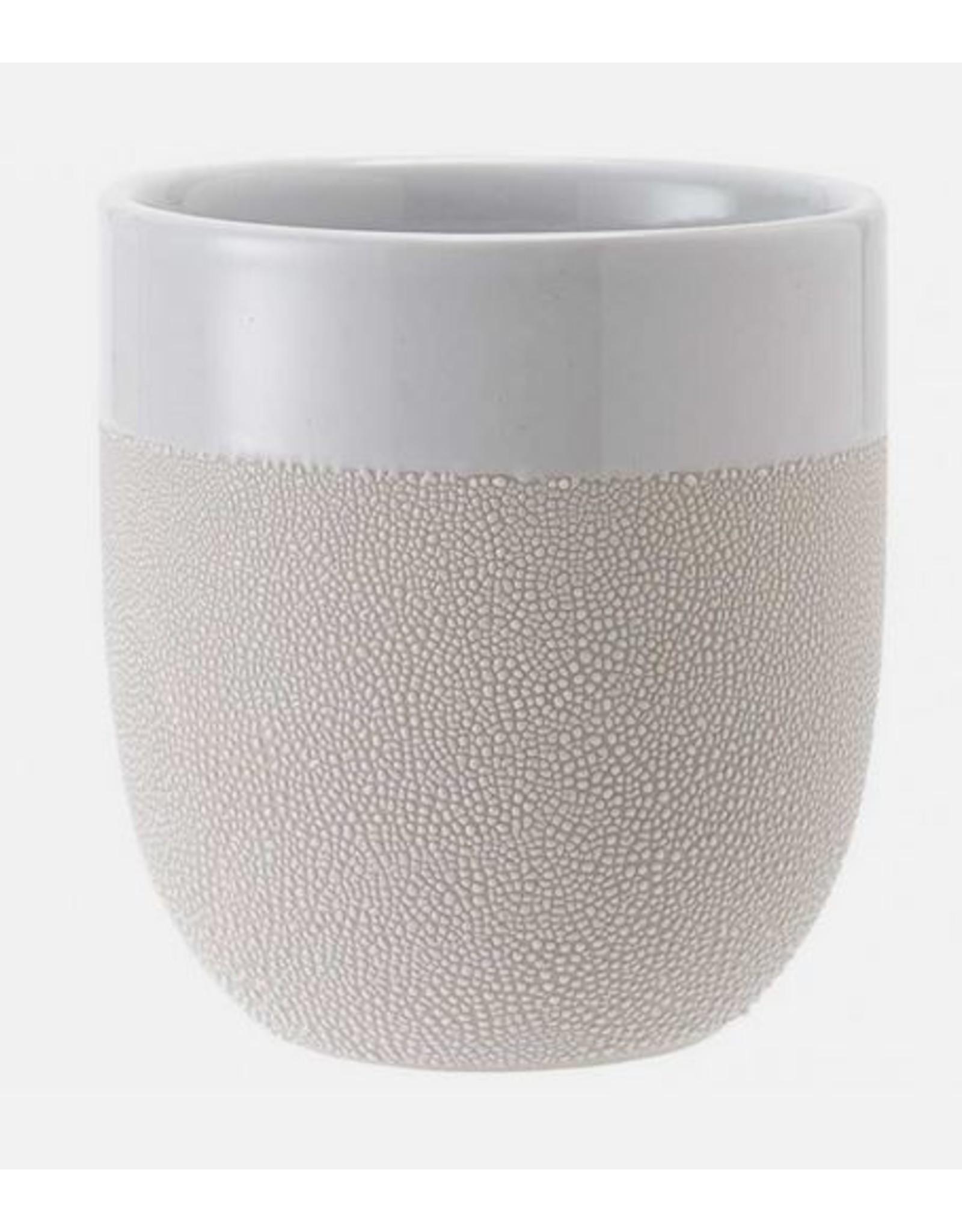 Ladelle Cafe Textured White Tumbler