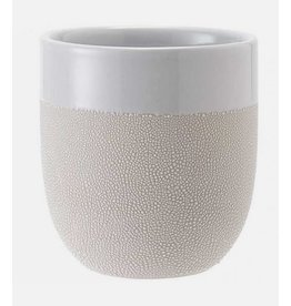 Ladelle Cafe Textured White Tumbler