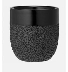 Ladelle Cafe Textured Black Tumbler