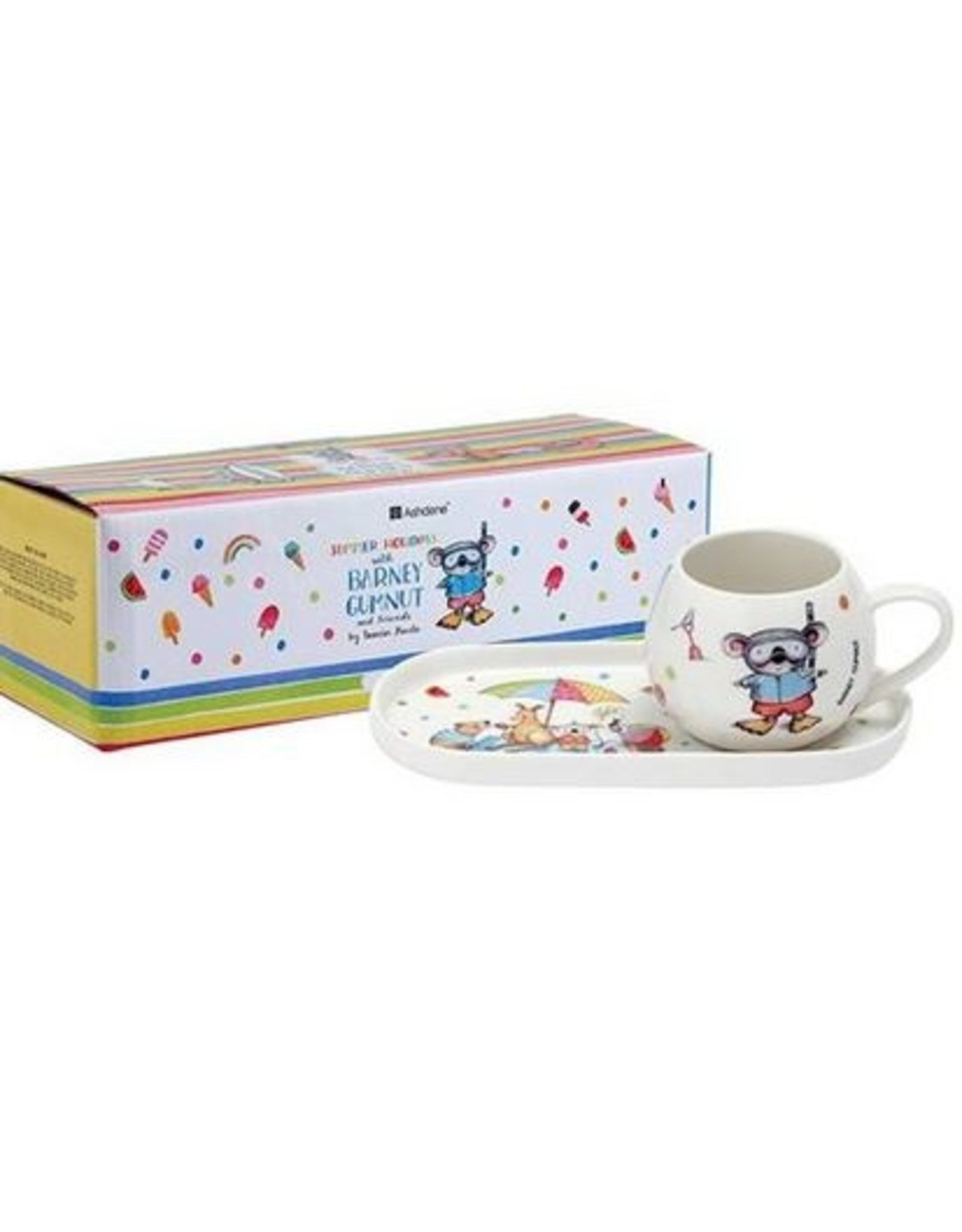 Summer with Barney Mug & Plate Set