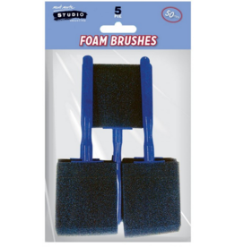 MM Foam Hobby Brush 50mm 5pc Poly Bag