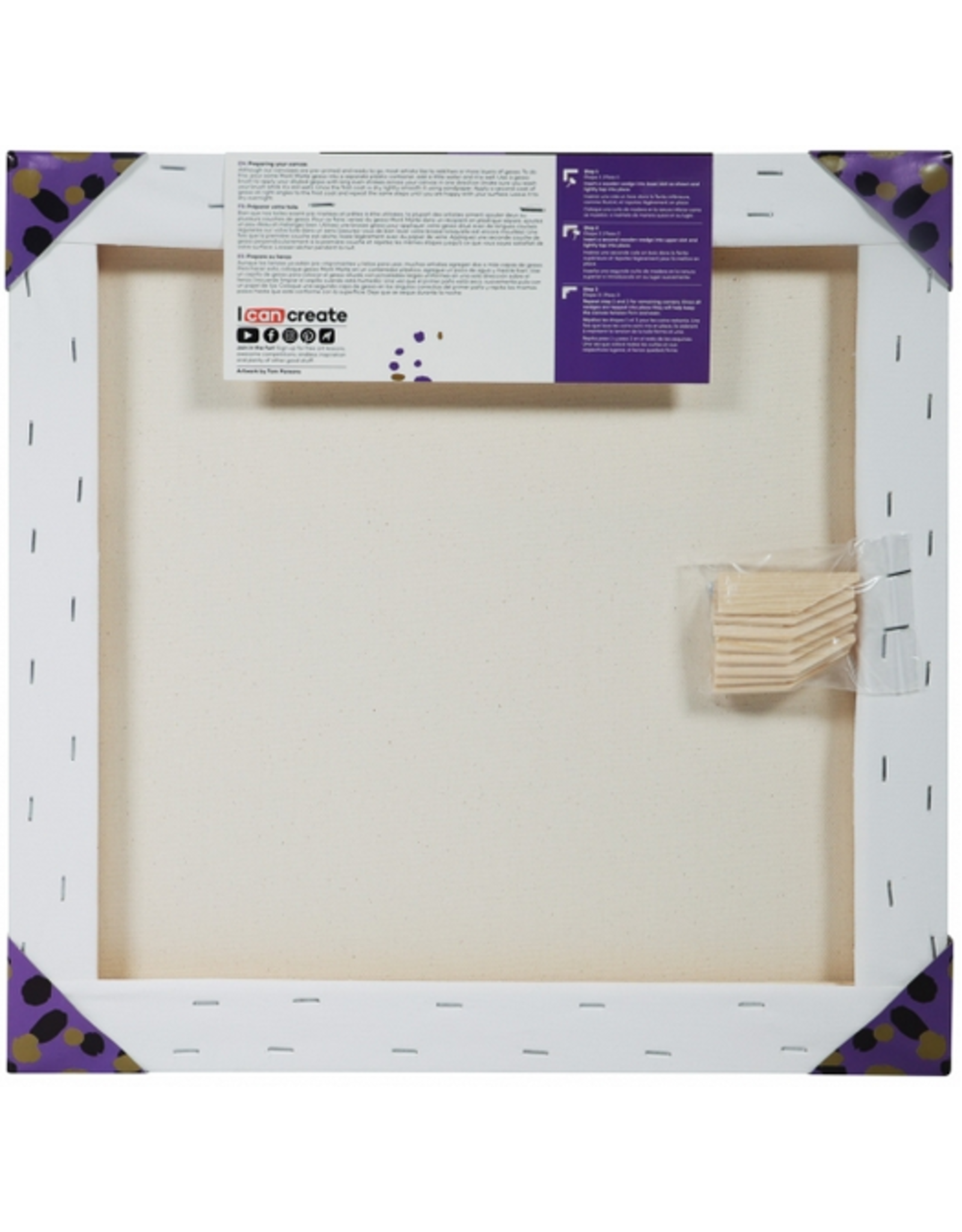 MM Canvas Pine Frame ST 40.6x40.6cm