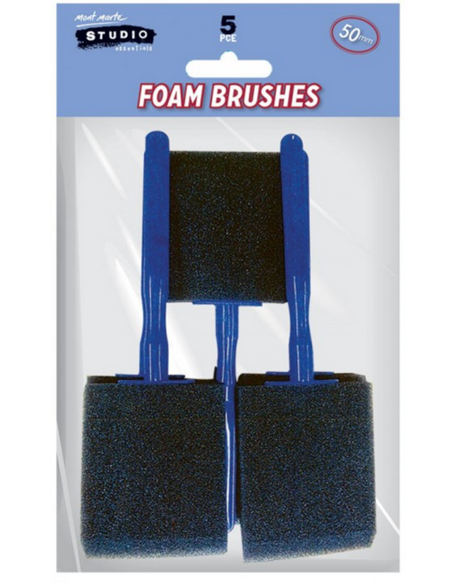 MM Foam Hobby Brush 50mm 5pc Poly Bag