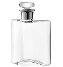 Glass Flask Decanter with Platinum Neck