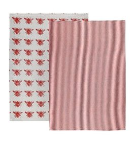 Raine & Humble Honey Bee Tea Towel Qty 2 in Assorted Colours