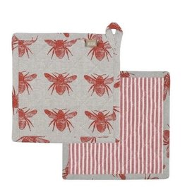 Raine & Humble Set of 2 Honey Bee Trivets in Assorted Colours
