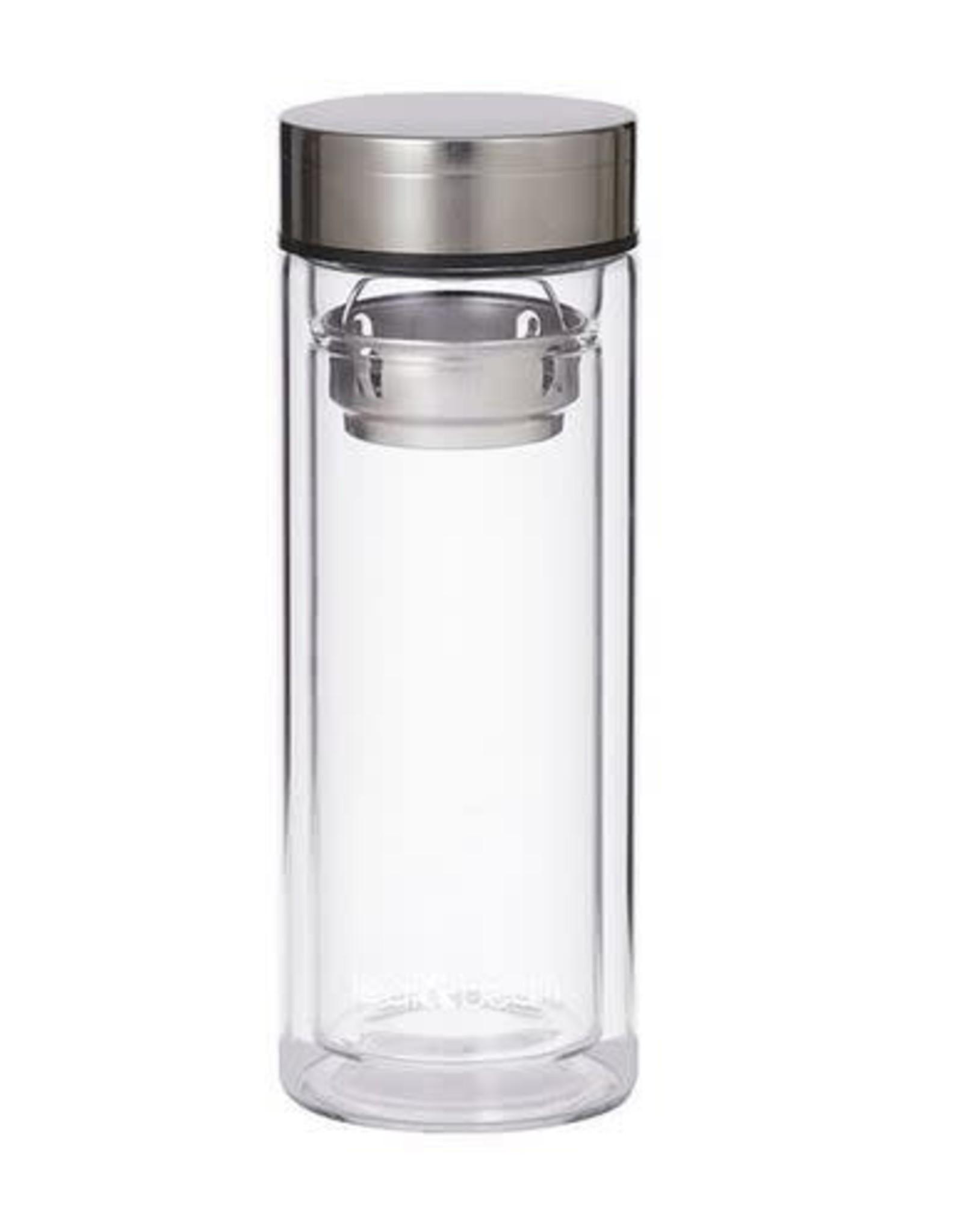 Leaf & Bean Leaf Glass Tea Infuser Flask 300ml