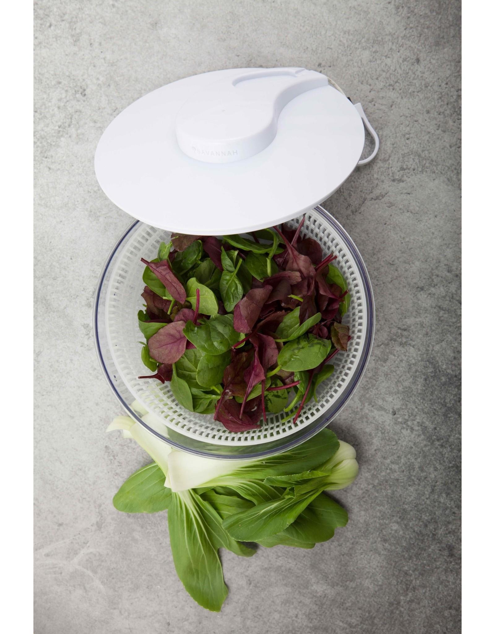 Savannah Salad Spinner WHITE/CLEAR D24cm