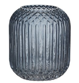 Rogue Valentina Deep Blue Grey Vase