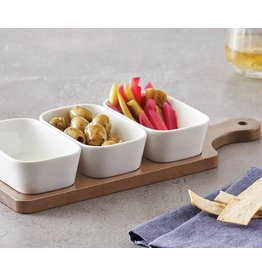 Davis & Waddell Loft Set of 3 Dishes with Acacia Wood Paddle