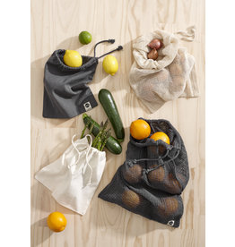 Ladelle Eco Recycled Charcoal Mesh Produce Bag Set of 4