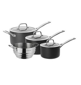 Pyrolux 4pc Saucepan Set with Steamer