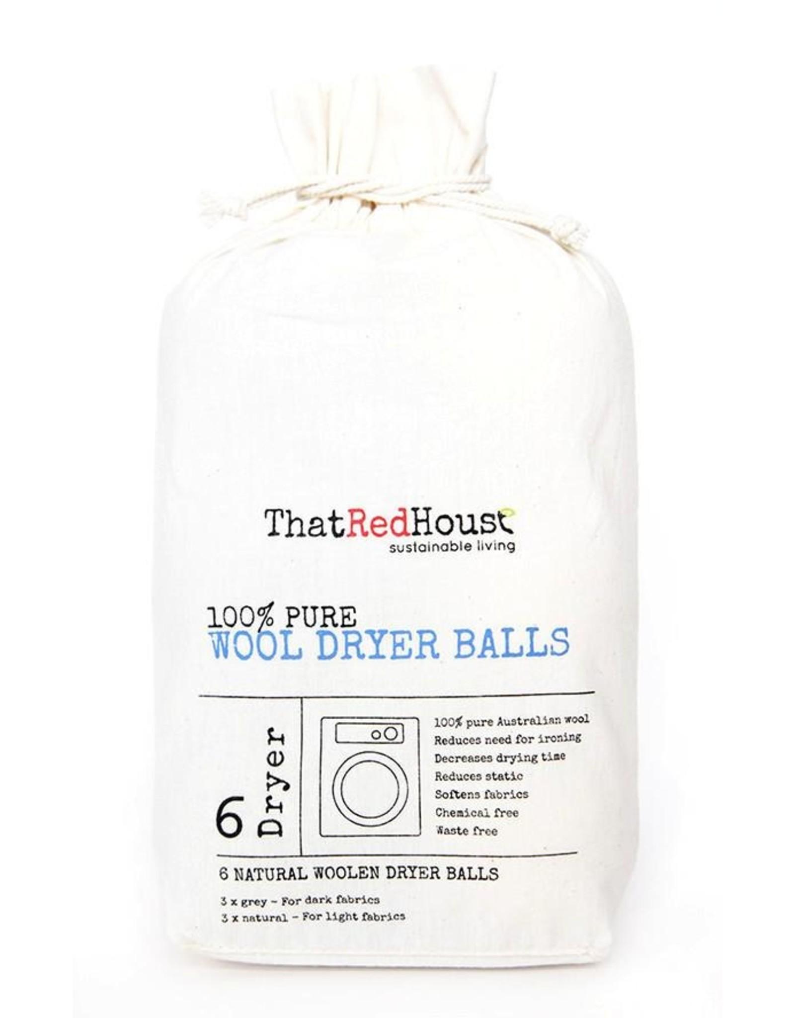 That Red House Wool Dryer Balls 6pk