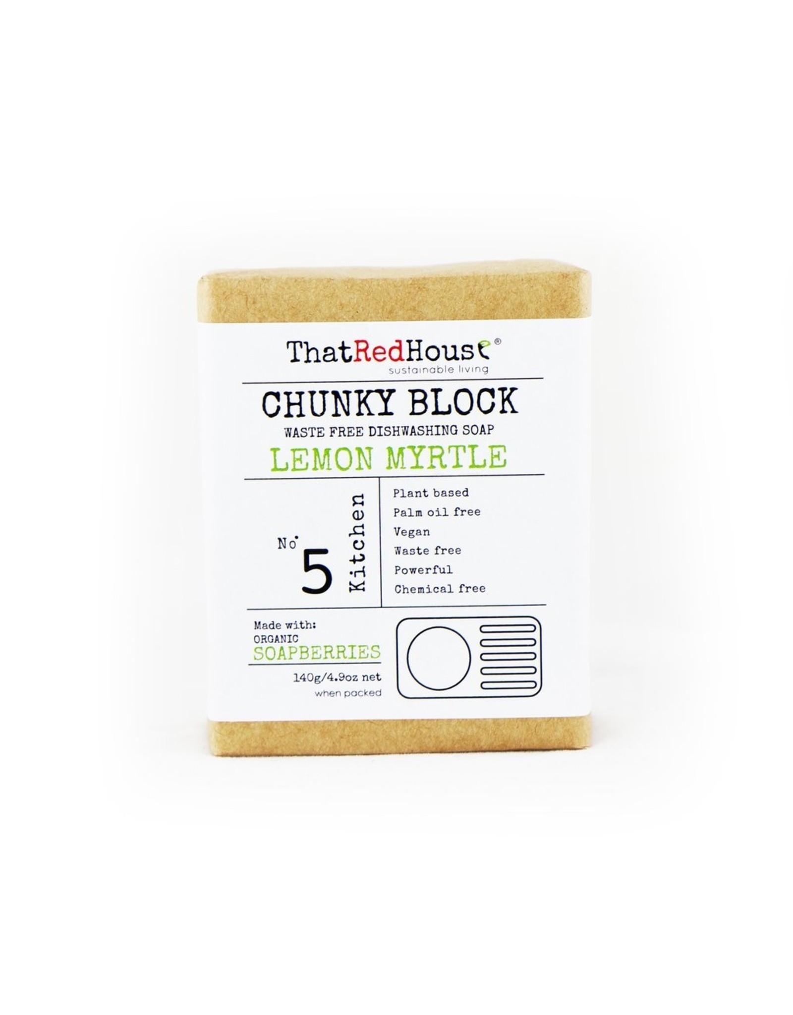 That Red House Chunky Block Lemon Myrtle Household Soap