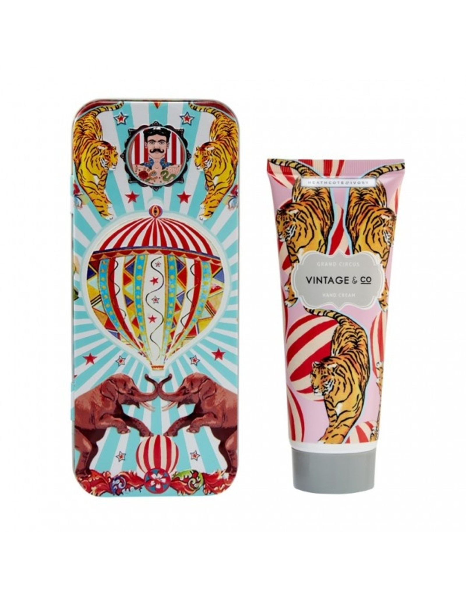 Heathcote & Ivory Vintage Circus Hand Cream in Tin 100ml
