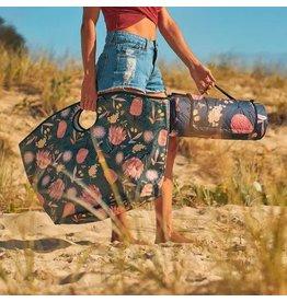Beach Bag Australian Flora Khaki